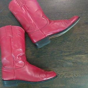 Red Justin cowboy boots size 6B